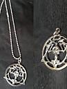 Smycken Inspirerad av Fullmetal Alchemist Edward Elric Animé Cosplay Accessoarer Halsband Vit Legering Man