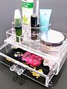 akryl transparent komplexa kombinerade dubbla lager kosmetika förvaringsbox med låda kosmetisk arrangör