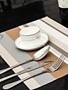 Blandade Färger Randig Tablett för middag, L45cm x B 30cm, Värmebeständig PVC