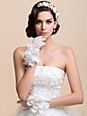 Wrist Length Fingertips Glove Net Bridal Gloves / Party/ Evening Gloves Spring / Fall / Winter White Floral