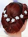 Femei Fata cu Flori Cristal Imitație de Perle Diadema-Nuntă Ocazie specială Ac de Păr 2 Piese