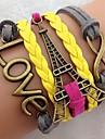 Vintage Multideck Torre AMORE braccialetto intrecciato da donna
