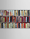IARTS®Oil Painting Abstract Bookshelf with Stretched Frame Ready to Hang Hand-Painted Canvas