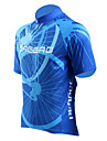 Jaggad Maillot de Cyclisme Homme Manches courtes Velo Maillot Hauts/Tops Sechage rapide Respirable Polyester Elasthanne Rayure Ete