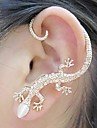 BaoGuang®1PCS Beautiful Zircon Alloy Gecko Pattern Earrings