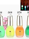 1PCS Laushine Luminous Noctilucent Fluorescent Nail Polish Glow in Dark Eco-Friendly(No.5-8,Assorted Colors)