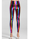 Women'sEmpire Waist Fluorescent Rainbow Leggings
