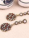 Gorgeous vintage European and American jewelry wholesale diamond circular pendant earrings earrings earrings E68