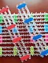 z&x® culoare curcubeu stil război de țesut instrument plin de culoare țese manual DIY brățară banda de cauciuc (1 buc)
