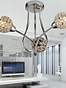 Max 40W Modern/Contemporary / Traditional/Classic Crystal Electroplated Metal Pendant Lights / Flush Mount Bedroom / Dining Room / Hallway