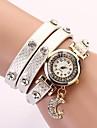 C & D mode femmes s\'habillent montres pendentifs lune montres bracelet en cuir xk-81