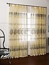 Deux Panneaux Le traitement de fenetre Rustique Chambre a coucher Polyester Materiel Rideaux opaques Decoration d\'interieur For Fenetre