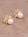 Dame Cercei Stud costum de bijuterii Perle Aliaj Bijuterii Pentru Nuntă Petrecere Zilnic Casual