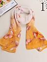 Peint a la main Bully Papillons chale echarpe de mousseline de soie creme solaire