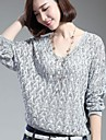 Women's V Neck Cutout Batwing Pullover Knitwear Sweater