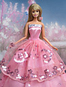 Fest & Kväll Klänningar För Barbie Doll Rosa Klänningar