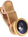 3-en-1 Fish Eye, photo Angle lentille macro et grand pour iPhone / iPad et autres (couleurs assorties)