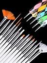 15pcs escova arte do prego definido com 5pcs pontilham ferramenta