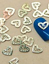 "200st ""ditt hjärta i min"" gyllene skiva metall nail art dekoration"