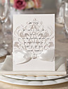 White Flora Design Wedding Invitation-Set Of 10/20/50