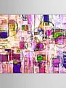 Pintada a mano Abstracto Un Panel Lienzos Pintura al oleo pintada a colgar For Decoracion hogarena