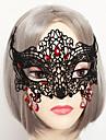 Masque Vampire Fete / Celebration Deguisement Halloween Rouge / Noir Couleur Pleine / Lace Masque Halloween / Carnaval UnisexeDentelle /