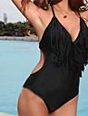 Donna PinkQueen ® Spandex nero con scollo a V nappa siamesi Bikini