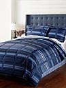 4 pieces - Moderne Bleu marine a rayures douillette