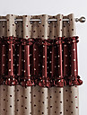 Two Panels Modern Novelty Beige / Red Bedroom Polyester Blackout Curtains Drapes