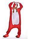 kigurumi Pyjamas New Cosplay® Renard Collant/Combinaison Fete / Celebration Pyjamas Animale Halloween Rouge Mosaique Polaire Kigurumi Pour