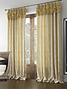 Neoclassical Two Panels Floral  Botanical Beige Bedroom Polyester Panel Curtains Drapes