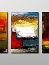 Hand Painted Modern Abstract  Oil Painting with Stretched Frame Set of 3