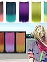 24 tum lång rak syntetiskt clip in hårförlängningar med 5 clips - 8 färger tillgängliga