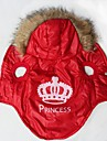 Dog / Cat Hoodie Red Winter Tiaras & Crowns