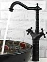 phasat® däck monterat två handtag ett hål med olja gnuggade brons köksblandare