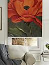 oljemålning stil realistisk röd blomma rulle skugga