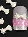 10st 3d diy pärla fluga legering naglar tillbehör nail art dekoration