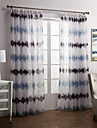 Two Panels Modern Novelty Grey Bedroom Polyester Sheer Curtains Shades
