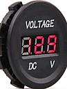 dc 12v-24v bil digitala ledde spänning elektrisk voltmeter monitor indikator testare