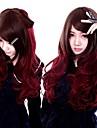 Perruques de lolita Gothique Lolita Long / Boucle Rouge / Marron Perruques de Lolita 60 CM Perruques de Cosplay Couleur Pleine Perruque