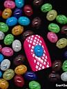 100pcs couleur de melange accessoires dinde ovale en pierre 3D Nail art decoration