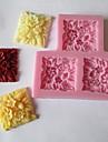 fleurs carre gateau fondant au chocolat bonbons moule, l9cm * w8.5cm * h1cm
