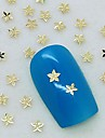 200st liten lönnlöv gyllene metall skiva nail art dekoration