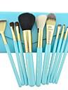 Make-up pour vous 10pcs bleu maquillage professionnel brosse cosmetiques