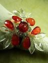 kristall hjärta kristall blomma i flera färger servettring, akryl beades, 4,5 cm, set om 12,