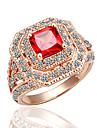 briller l\'anneau en cristal de zircon rubis meles