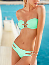 Women's Bandeau Sexy Candy Color Push Up Bikini Swimwear