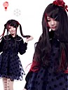 Zipper Vampire Black Girl Curly Long Gothic Lolita Wig