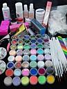 90pcs glitter uv gel cleanser primer nail art kit sett