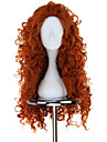 New BRAVE Movie MERIDA Long Curly Orange Anime Cosplay Wig